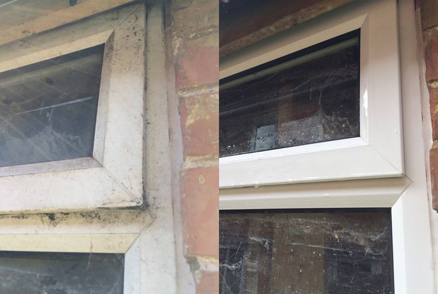 Cleaning Upvc Window Frames and Doors with Softwashing